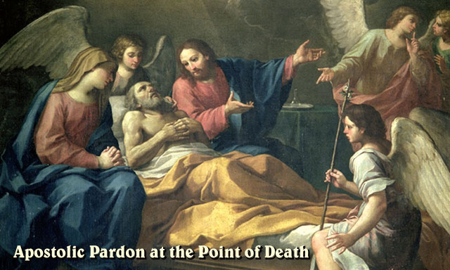 Apostolic Pardon Prayer Card (used w/ Anointing of Sick)