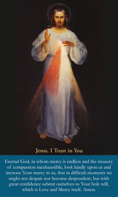 *LARGE PRINT*Divine Mercy Chaplet Holy Card(FOR THOSE UNABLE TO ATTEND MASS)