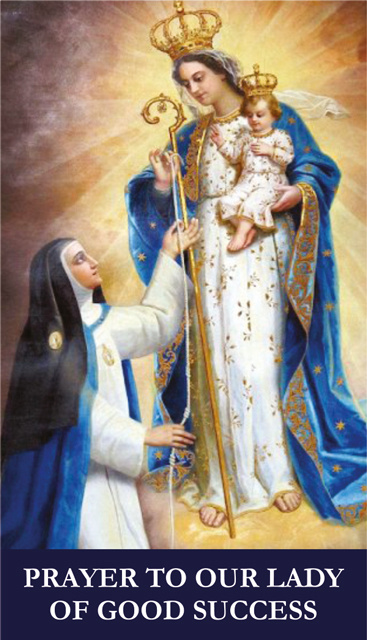 Our Lady of Good Success Prayer Card