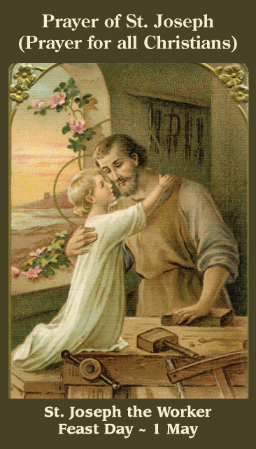 St. Joseph the Worker Prayer Card
