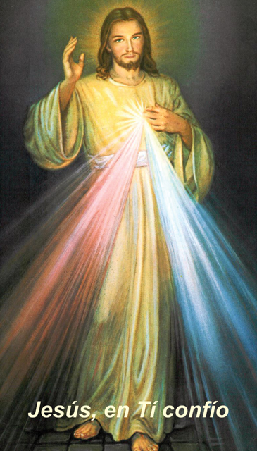*SPANISH* Divine Mercy Chaplet Prayer Card(FOR THOSE UNABLE TO ATTEND MASS)