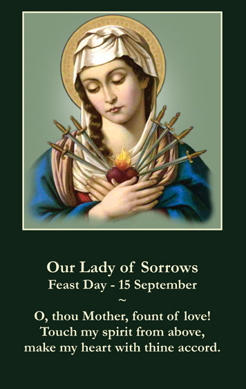 Our Lady of Sorrows Prayer Card
