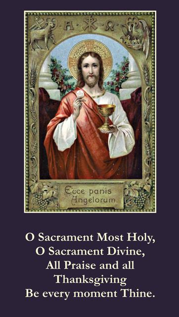 Blessed Sacrament Prayer Card