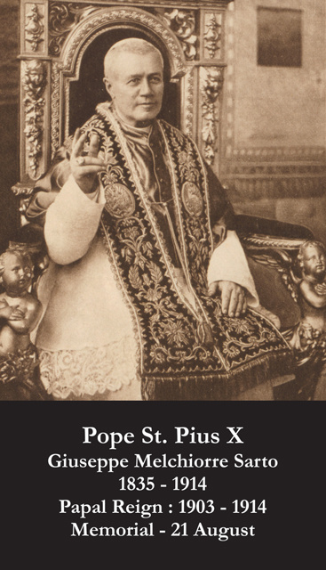 Pope St. Pius X Prayer Card