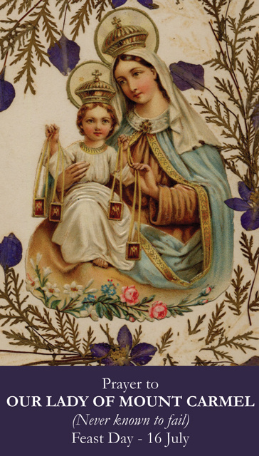 Our Lady of Mt. Carmel Prayer Cards