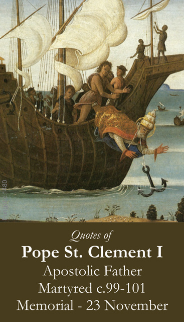 Pope St. Clement I Prayer Card