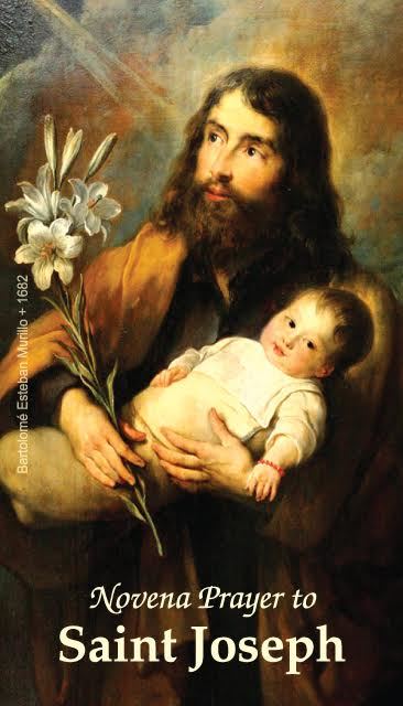 St. Joseph Novena Prayer Card