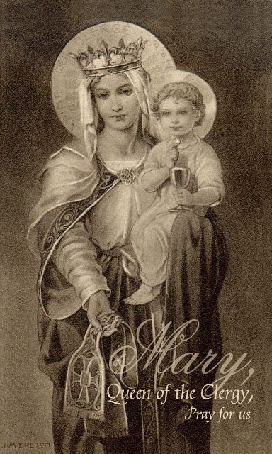 Mary, Queen of the Clergy - Prayer for Priests Card***ONEFREECARDFOREACHCARDORDERED***