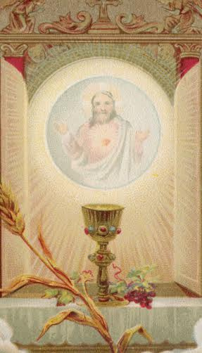 Oh Jesus, Blessed Sacrament Prayer Card