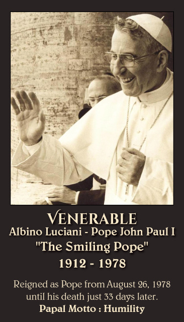 Pope John Paul I Prayer Card