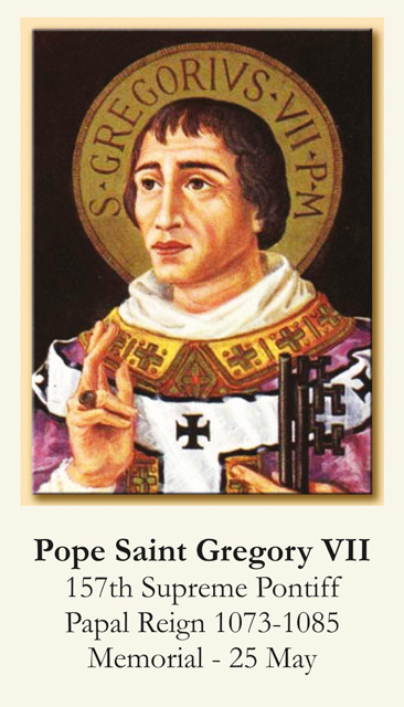 Pope Saint Gregory VII Prayer Card