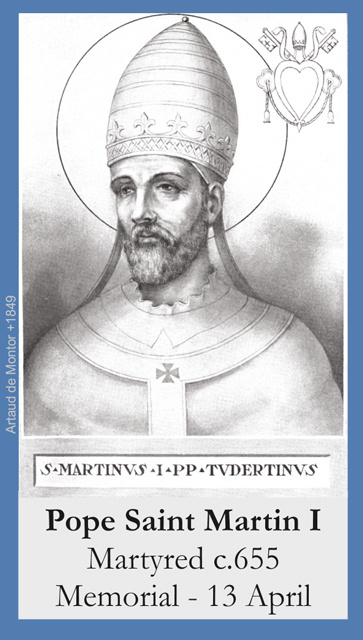 Pope Saint Martin I Holy Card