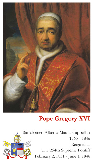 Pope Gregory XVI Card