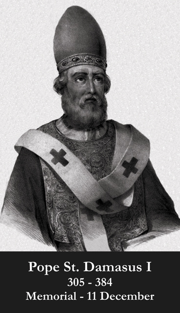 Pope St. Damasus I Prayer Card