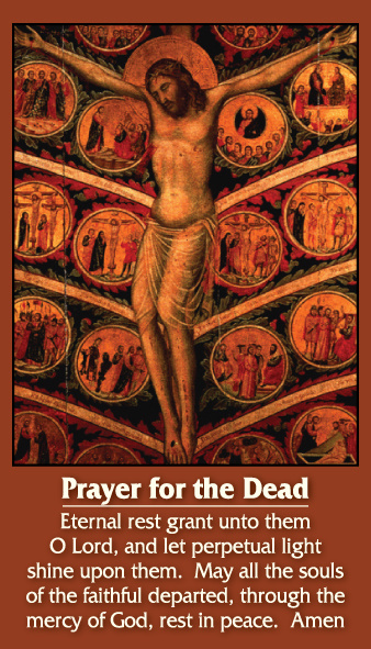 Prayer for the Dead Holy Card