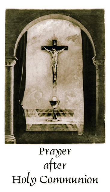 Prayer After Holy Communion Card