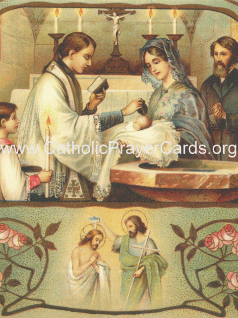 Prayer for the Baptism of a Child Holy Card