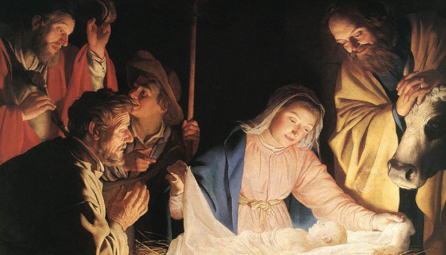 Nativity / Advent / Christmas Prayer Card