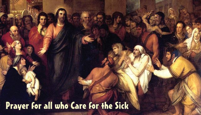 Prayer for All Those Who Care for the Sick Holy Card