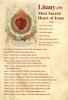 Litany of the Most Sacred Heart of Jesus Prayer Card