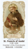 St. Francis of Assisi Prayer Card