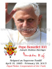 *ENGLISH* Special Limited Edition Collector's Series Commemorative Pope Benedict XVI Prayer Card